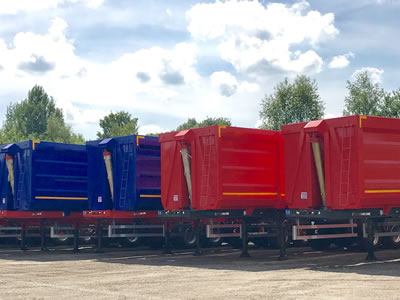 Accordian style Tipper Trailers from Rothdean