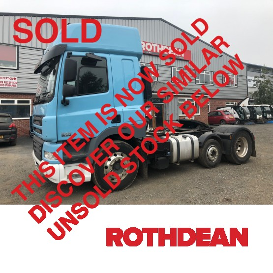 2012 DAF CF85460 SKY CAB in 6x2 Tractor Units