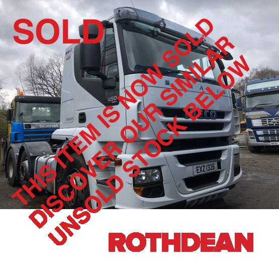 2013 IVECO STRALIS 450 ACTIVETIME CAB in 6x2 Tractor Units