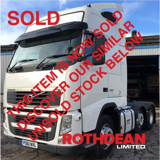 2012 VOLVO FH13-460 GLOBETROTTER in 6x2 Tractor Units